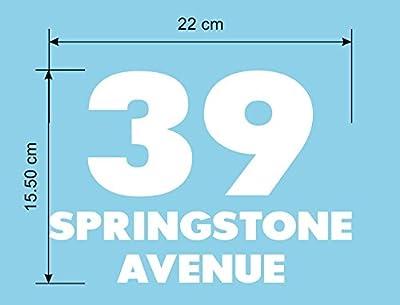 Personalised Wheelie Bin Stickers House Number Street Name
