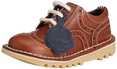 Kickers  Kick Brogman Lthr Im, Chaussures de ville à lacets pour garçon - Marron - Marron (clair), 30 EU ( 12 UK )