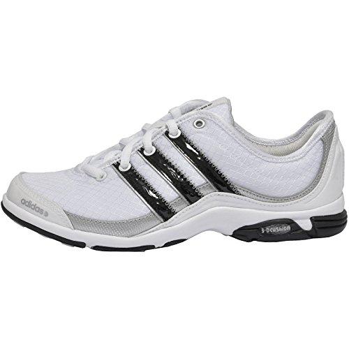 adidas Scarpe Donna Revive G31421 (39 1-3 - Run White-Black-METSILBLANC-Noir-Argent)