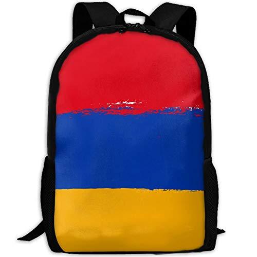 Pigment Flagge Von Armenien Erwachsene Reiserucksack Schule Casual Daypack Oxford Outdoor Laptop Tasche College Computer Umhängetaschen -