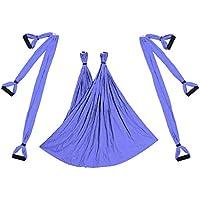 Yiruy Aerial Yoga altalena Volante amaca Set Anti-gravità 6 impugnatura a Mano appeso sedia Kit Fitness Pilates altalena