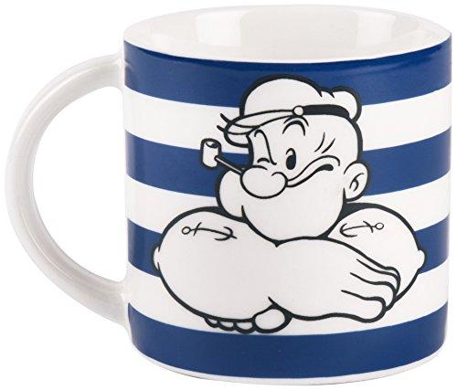 Excelsa Popeye Tasse à café, Porcelaine, Bleu
