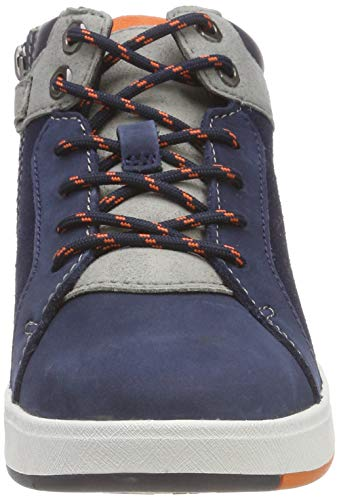 Timberland Unisex Kids  Davis Square Chukka Boots  Blue  Black Iris Naturebuck 19   12 5  31 EU