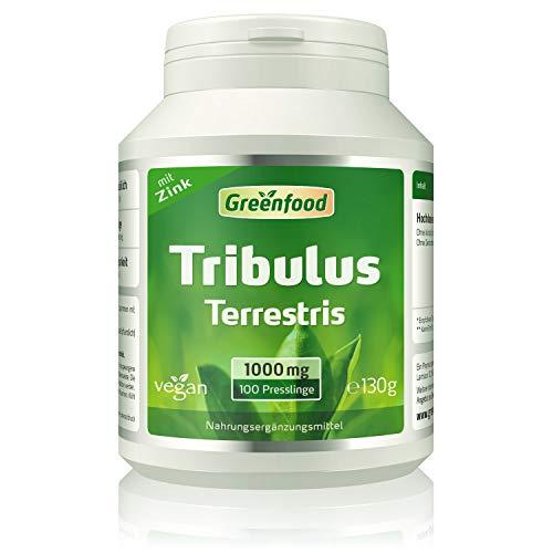 Greenfood Tribulus Terrestris, 1000mg, hochdosiert, mind. 80{f748b6d9e155e596004b5722f775c5e6afcbedbcb56fd1f9f62b81f58ed8b60d} Saponine, 100 Tabletten