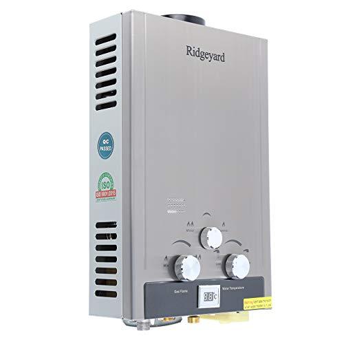 Ridgeyard 8L 2 GPM Gas Natural Instantáneo Calentador