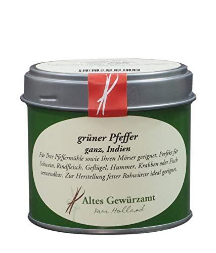 Grüner Pfeffer ganz luftgetrocknet aus Indien frisches Aroma angenehme Schärfe 50 g - Altes Gewürzamt Ingo Holland