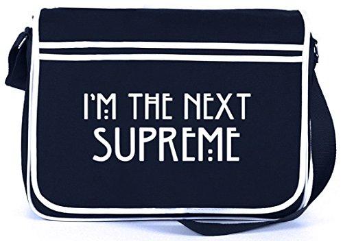 Shirtstreet24, AHS - I'm The Next Supreme, Retro Messenger Bag Kuriertasche Umhängetasche Navy