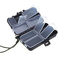 TOOGOO(R) Portatil 9 Compartimientos Caja de senuelos de pesca Estuche de Gancho Trastos Cebos Gancho cuchara Nuevo