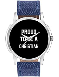 Wrist Watch For Men - Proud To Be A Christian Best Gift For CHRISTIAN - Analog Men's And Boy's Unique Quartz Leather...