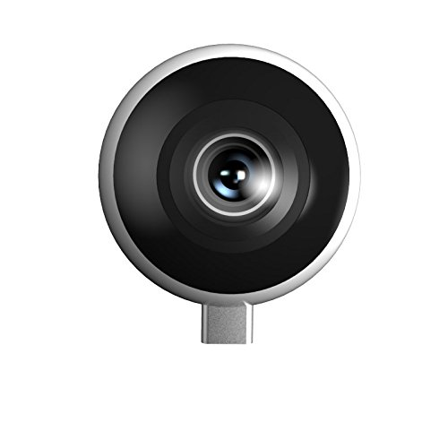 Tesseract Inc. Quark 360 Virtual Reality Mobile Add-On Camera for Android (USB Type C) With Live Streaming to Facebook, YouTube and Tesseract Presence Platform