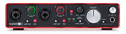 Focusrite Scarlett 2i4, 2nd Gen, 2in 4out Schnittstelle Audio USB -