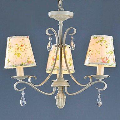 Kai con motivo floreale, 3-Lampadario luce ferro processo rustico, pittura