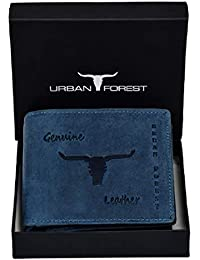 Urban Forest Montana Leather Wallet for Men - Packed in Premium Wooden Box for Festive Gifting