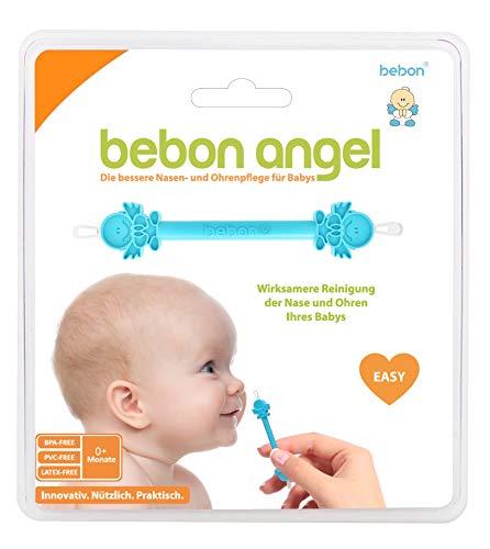 Bebon Angel - der bessere Nasenreiniger und Ohrenreiniger für Babys | Sichtbar wirksamer als Nasensauger/Nasensekretsauger