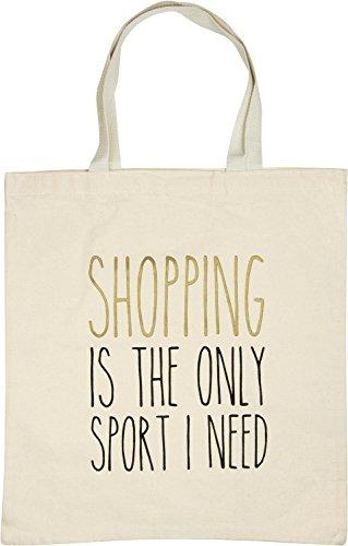 a2b4e5562 styleBREAKER bolsa para compras con frase estampada «SHOPPING IS THE ONLY  SPORT I NEED»