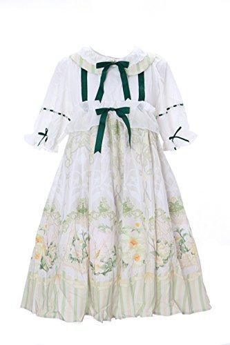 JSK-12 Vogel Bird creme weiß grün Vintage Baby-Doll Cute Pastel Gothic Lolita Kleid dress Cosplay Kostüm Kawaii-Story