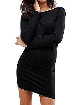 Abitino nero scollato maglione