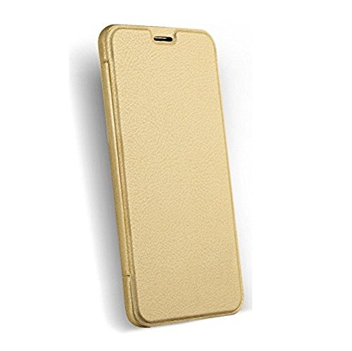 CarryWrap Imported leather type flip cover for Yu Yunicorn - Gold