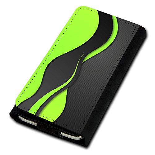 Book Style Flip Handy Tasche Case Schutz Hülle Foto Schale Motiv Etui für ZTE Blade C341 - Flip U1 Design8