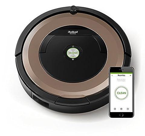 iRobot Roomba 895 Staubsaugroboter (fortschrittliche Reinigungsleistung mit Dirt Detect, für alle Böden, ideal bei Tierhaaren, WLAN-fähig), bronze