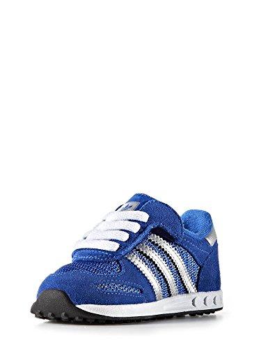 Junior Adidas baskets bas S80167 LA TRAINER CF I Bleu ...