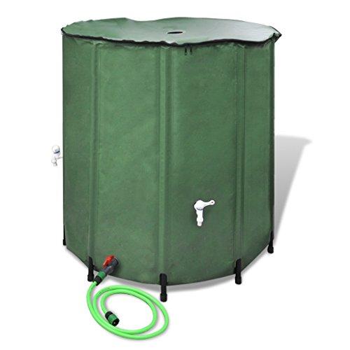Anself Regentonne Wassertank aus PVC mit 250L Grün Klappbar