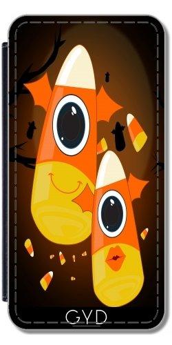 Leder Flip Case Tasche Hülle für Apple Iphone 7 Plus / 8 Plus - Süßigkeit-Mais-Monster by Adamzworld