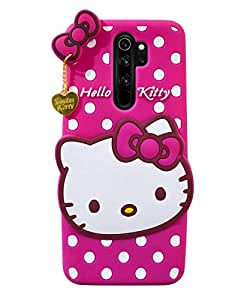 Mobyro Oppo A9 2020 Kitty Case Cover | Rubber Back Cover | Soft Silicone Cute artoon Hello Kitty Cover for Oppo A9 2020