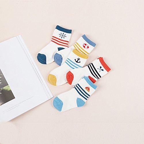 ZYTAN Kinder Socken Socken Socken Socken Socken Socken aus reiner Baumwolle Schweißabsorbierend Atmungsaktiv, Old Navy, Im Alter von 6-8 5 Paaren.