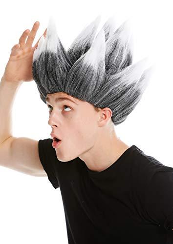 WIG ME UP ® - LM-19-P103TP60 Peluca Mujer Hombre Carnaval Pelo erizado 0c7b2e63be16
