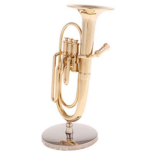 Fenteer 1/6 Miniatur Tuba Modell Zubehör für 12 ''Actionfigur, aus Metall