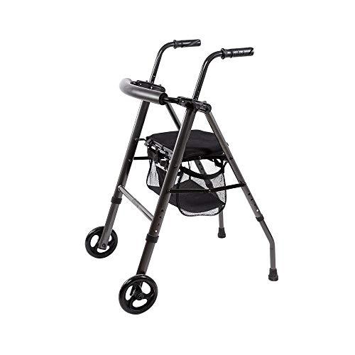 Faltbarer Riemenscheiben-Walker Mit Abschließbarer Bremse Und Sitzhebel-Aluminium-Walker Für Ältere Einkaufspedal-Walker-Trolley