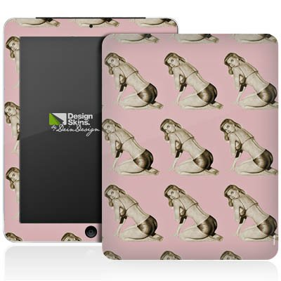 Apple iPad 1 Aufkleber Schutz Folie Design Sticker Skin Pinup Retro Rosa -