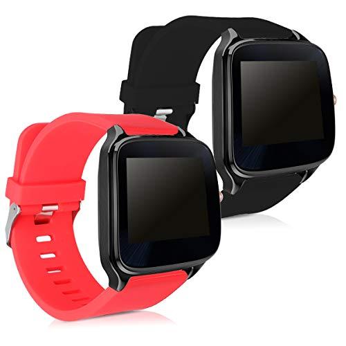 kwmobile Moto 360 2 / ASUS Zenwatch 2 Cinturino in Silicone - 2X Fascetta con Fibbia ca. 16-23 cm per Moto 360 2 / ASUS Zenwatch 2