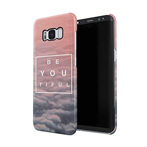 Beautiful Cute Be Youtiful PClouds Tumblr Dünne Rückschale aus Hartplastik für Samsung Galaxy S8 Handy Hülle Schutzhülle Slim Fit Case Cover