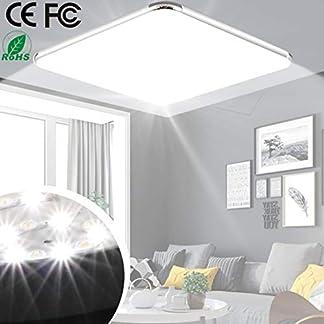 Plafoniera a LED Lampada di proiezione della luce moderna Ultrathin 12W 6500K Fredda bianca adatta per il bagno soggiorno cucina corridoio [Classe energetica A +]