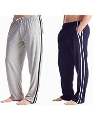 Gentlemens 2-Pijama para hombre, diseño De conejos pie-Pantalón De expansión, tamaños variados