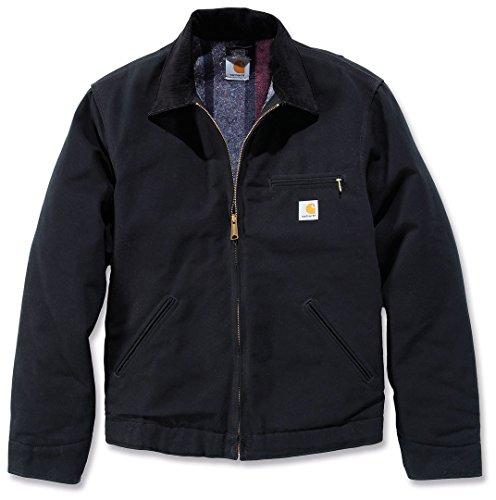 Jacke für Herren aus Stoff Modell Carhartt J001 Duck Detroit Black Jacket S Schwarz