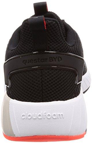 adidas Herren Questar BYD Sneaker schwarz (Negbas / Negbas / Rojsol 000)