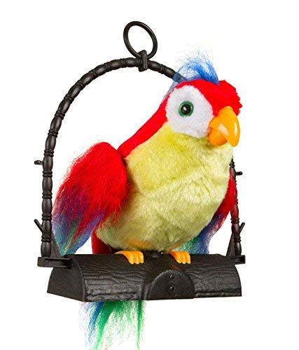 Mix Cart Sacow Parrot Plush Toys, Adorable Speak Talking Record Repeats Waving Wings Cute Parrot Stuffed Plush Toy