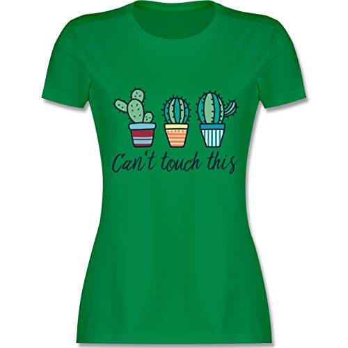 Comic Shirts - Can\'t Touch This - XXL - Grün - L191 - Damen T-Shirt Rundhals
