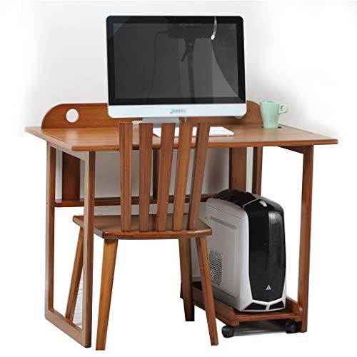 Multifunktionscomputertisch und Stuhlstudentischstudientischausgangstisch-Bambusschreibtisch (Color : Brown)