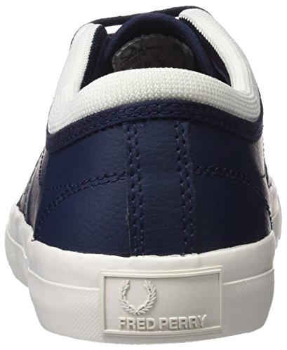 Fred Perry Kendrick Tipped Cuff Leather, Richelieus Homme Carbon Blue