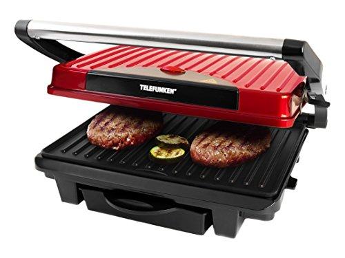 TELEFUNKEN Kontaktgrill Tischgrill Elektrogrill Panini Grill Sandwich Maker