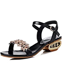 Zapatos de mujer Summer New Rhinestone Sandals Mujeres con plataforma impermeable Europea y American Open Toe...