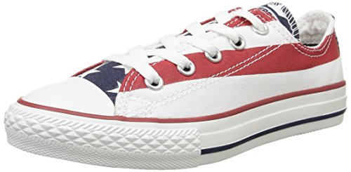Converse All Star Ox Canvas - A2 Scarpe Sportive, Unisex Adulto Multicolore (Stars&Bars)