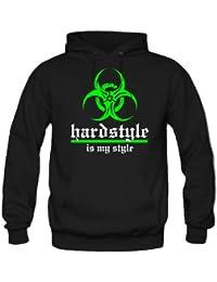 "Hardstyle is my style ""Destroy"" Kapuzenpullover(schwarz) - original"