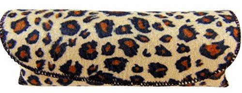 Brillenetui Premium Schutzhülle Leopard Animal Print Semi Hard Schutztasche Etui Brillen Sonnenbrille 2er Set Premium Hardshell Case