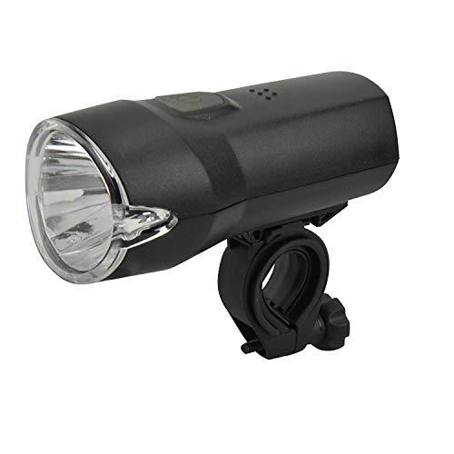 Dansi Unisex- Erwachsene Eco Lux Batteriefrontleuchte LED, schwarz,