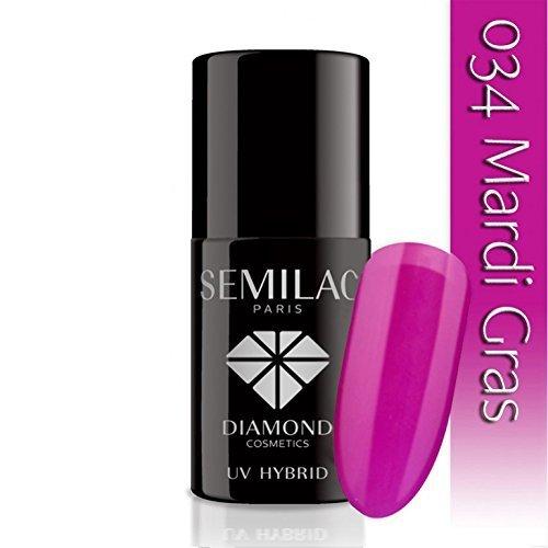 semilac UV Hybrid Nagellack, Anzahl 034, 7ml, Mardi Gras (Mardis Gras Farben)